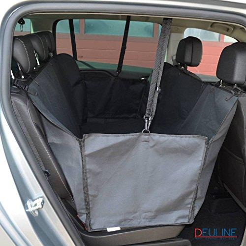 Deuline !Gratis Hunde Sicherheitsgurt 520041 Hunde Autoschondecke mit Seitenschutz Kofferraumdecke Auto Schutzdecke Rücksitzdecke Seitenschutz robuste Hundedecke 160x140CM Wasserdicht Autodecke