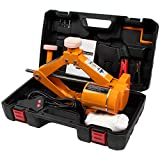 BEETRO 3 Ton (6600 Lbs) Electric Car Jack with Jack Pad, 12 Volt Electric Scissor Jack for Tire Replacement, Portable Electric Car Floor Jack Lifting Range 4.72-16.54 inch