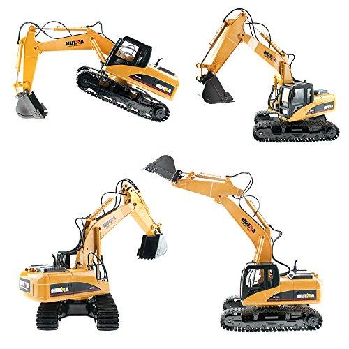 RC Baufahrzeug kaufen Baufahrzeug Bild 1: efaso 1:14 RC Bagger 1550 - 2,4 GHz Baustellenfahrzeug mit Licht und Sound, Schaufel aus Metall, Aufnahmemodus und umfangreichen Steuerungsmöglichkeiten*
