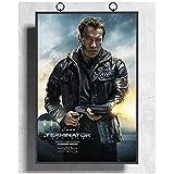 Terminator Genisys Arnold Schwarzenegger carteles e impresiones de películas arte pared lienzo póster impresión sala de estar decoración del hogar -50x70cm sin marco
