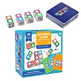 Kisangel Wooden Expression Matching Block Puzzle Logical Thinking Early Educational Toys for Kids Toddlers Family Interactive Games