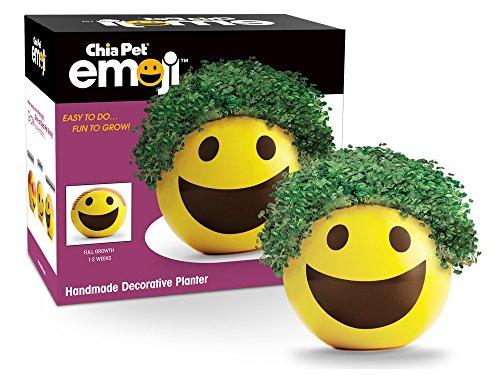 Chia Pet Emoji Smiley with Seed Pack