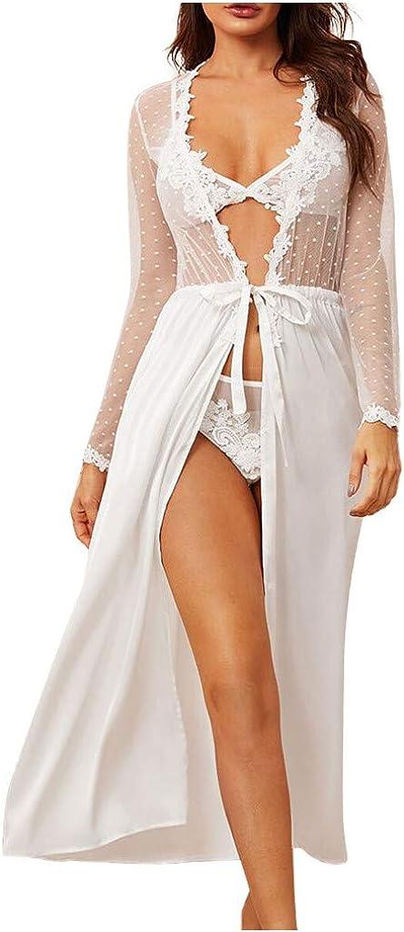 Sexy Lingerie Summer Women's Ladies Satin Bride White Cheap 5 ☆ popular Robes