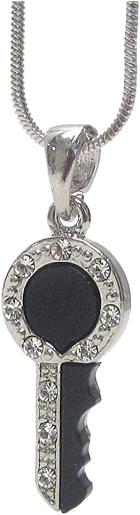 Fashion Jewelry ~ Crystal Key Pendant Necklace for Women Teens Girlfriends Birthday Gifts