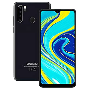 Unlocked Smartphones Blackview A80 Pro Dual Sim Unlocked Cell Phones Bundle Andorid 9.0 Phone 4GB+64GB ROM 6.5  HD Fingerprint Detection 4680mAh Capacity Battery 4G GSM Network Unlocked Phones