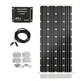 SARONIC Kit Pannello Solare 160W 12V-Pannello Solare da 160W + 10A Regolatore di Carica luce LCD + Cavo Adattatore da 3m + Staffe di Montaggio