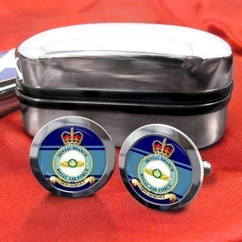 Dental branche Royal Air Force Chrome-Boutons de manchette avec coffret cadeau