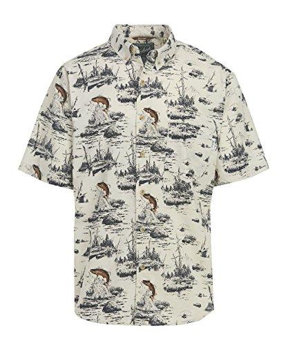 WOOLRICH Herren Hemd aus Walnussholz, modern, Bedruckt - Mehrfarbig - Klein