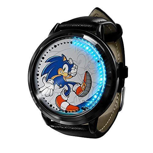 Sonic The Hedgehog Reloj Pantalla táctil LED Reloj con luz Digital a Prueba de Agua Reloj de Pulsera Unisex Cosplay Regalo Relojes de Pulsera niños