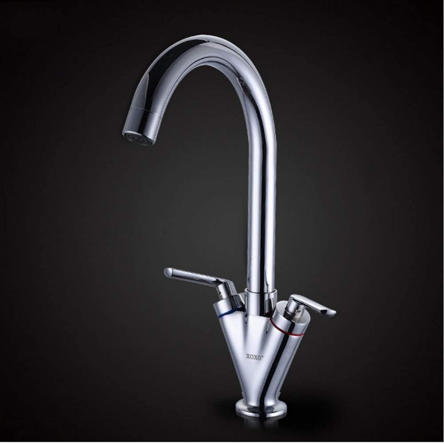 Lddpl Tap Hot Sell Double Handle Kitchen Sink Tap,Kitchen Mixer,Round Swivel Kitchen Faucets