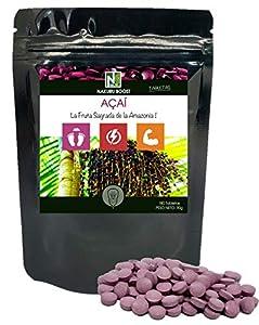 Açaí / 180 tabletas de 500 mg/NAKURU Boost/Polvo Orgánico Seco y Comprimido en Frío/Analizado y empacado en Suiza /