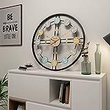 Reloj Cocina Pared Moderno Grande Silencioso, Reloj de Pared Grande Vintage XXL, Metal, Diámetro de 40 cm / 50 cm / 60 cm / 80 cm, Decoración para Hogar, Cocina, Salón,80cm