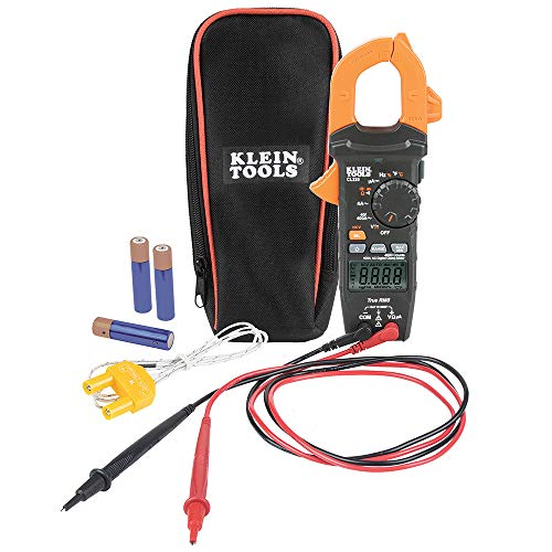 Klein Tools (KLEBE) CL320 Digital Clamp Meter, HVAC Electrical Tester with TRMS, for AC Current and AC/DC Voltage