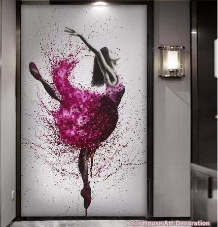hulinhai Dance Girl Canvas Painting Home Decoración de Pared HD Impreso Elegante Bailarina de Baile Modular Pictures Ballet Posters and Prints50x75cm Sin Marco