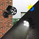 Jardín Iluminación Solar Powered impermeable PIR sensor de...