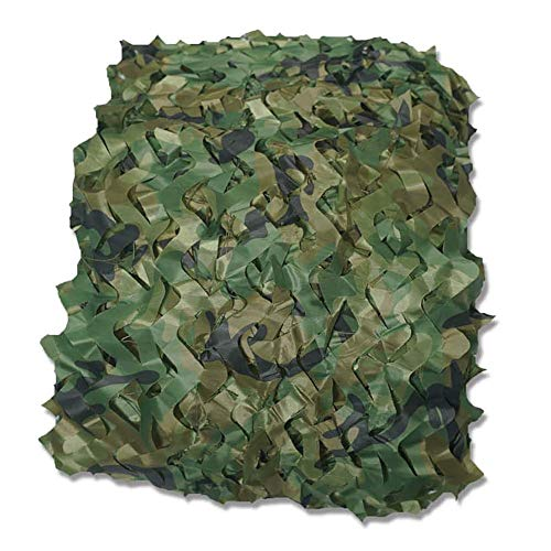 QFQ Outdoor-Multi Tarpaulin-Persenning Oxford Camo Netting Wald Rolläden Für Camping, Militär, Schießen,6.8X6.8M (22,3 Ftx22.3 Ft)