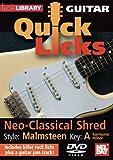 Lick Library: Quick Licks For Guitar - Malmsteen Neo-Classical Shred [Reino Unido] [DVD]