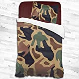 Tidyki Camouflage Sex and The City Duvet Cover Set Twin Size Boys Girls Decorative 2 Piece Bedding Set with 1 Pillow Shams for Girls Kids Children