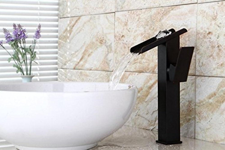FEN Quartett voller Kupfer schwarz Retro Wasserhahn breiter Mund Wasserfall Waschbecken Becken Wasserhahn