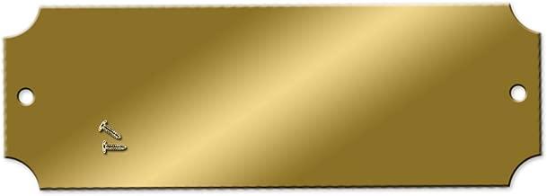 Blank Engraving Brass Plates - 2-1/2 x 7/8 inch - Pk/25