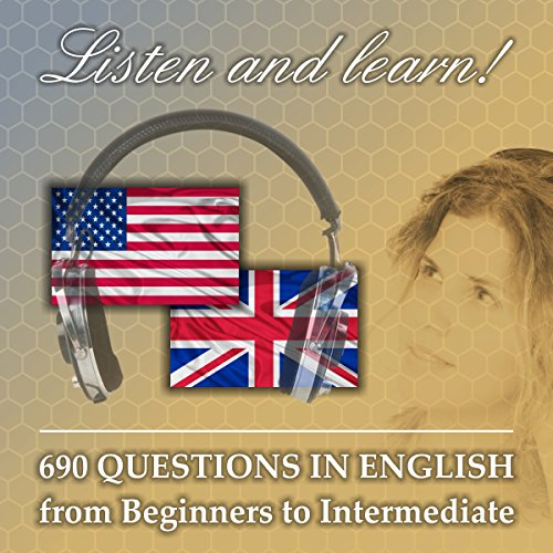 690 questions in English audiobook cover art