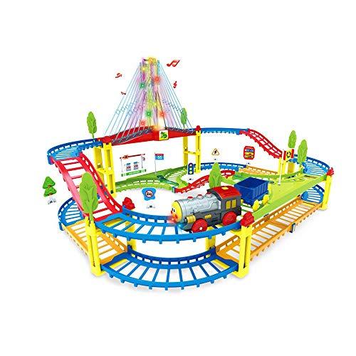 Juguete de vías de tren para niños, juego de juguetes de vías...