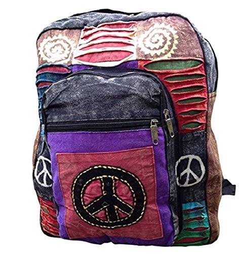 Indie Boho Hippie Rucksack Bag Hippie Beach Peace Schulter Festival Rucksack Retro 60's