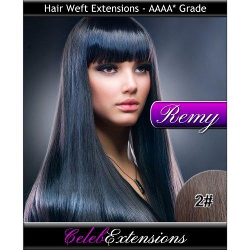 50,8 cm 2 # brun foncé extensions capillaires Cheveux indiens Remy 100% humains tissage. Lisse et Soyeux 6 m Poids : 100 g AAAA de grande qualité. Qualité. Par celebextensions