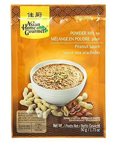 Asian Home Gourmet Peanut Sauce Mix Max 90% OFF Pouch of 3 1.75-Ounce Inventory cleanup selling sale Pack