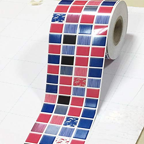 #N/A Ristiege - Adhesivo autoadhesivo de PVC para cintura extraíble, diseño geométrico, color rojo exótico 9 cm de ancho