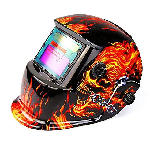 Equipo de seguridad de casco de soldadura oscurecimiento automático de la campana accionada solar Range 4/9-13 Mig Tig Arc Welder