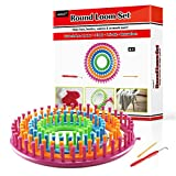 LAYOER Round Knitting Loom Set with Hook Needle...