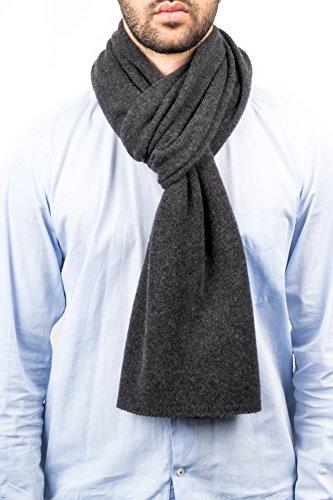 DALLE PIANE CASHMERE - Schal aus 100% Kaschmir - für Mann/Frau, Farbe: Anthrazit, Einheitsgröße