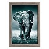 goldbuch Toscana - Marco de fotos de madera para fotos en formato de 20 x 30 cm, con soporte y soporte de pared, marco individual de MDF, marco gris
