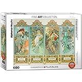 Puzle Eurographics «Alphonse Maria Mucha Four Seasons» (1000 Piezas, Multicolor)
