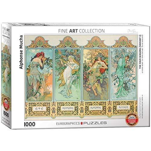 Eurographics 'Alphonse Maria Mucha Vier Jahreszeiten Puzzle (1000, Mehrfarbig)