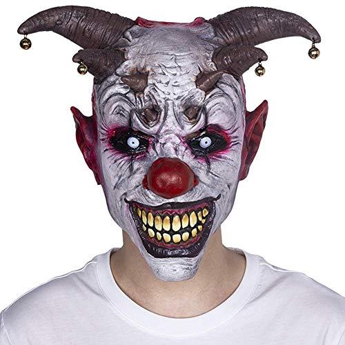 LXHSY Máscara de Payaso con Cara de Fantasma de Halloween para Adultos, Cara Completa, máscara de látex, máscara de Terror para Disfraz, Cosplay, máscara de Terror