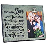 8'x10' Remembrance Memorial Picture Frame, Holds 4'x6' Photos-Modern Sympathy Gifts, Loss of a Loved One Picture Frame (Beige Crackle-Ppl-2)