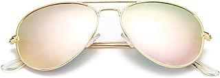 Classic Polarized Aviator Sunglasses for Men Women Mirrored UV400 Protection Lens Metal Frame