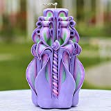 Hand Carved Candle Purple-Mother's Day Candle-Amazing Candle Gift for Women-Oscar candles