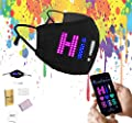 LED Programmable Face Cover, Adjustable Custom Sign USB Rechargeable Light Up Facial Protector with Lighting Matrix for Festivals, Halloween Costumes, Raves, Parties, Concerts, Black Face Mask