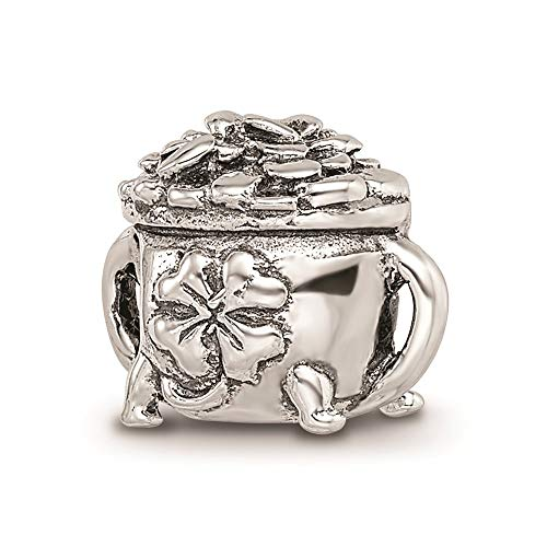 925 Sterling Silver Charm For Bracelet Pot Of Gold Bead Good Luck Celtic Fine Jewellery For Women Gifts For Her
