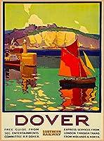 ERZAN風景 知育 puzzle1924のトランス-カナダカナダ太平洋ビンテージ鉄道旅行広告ジグソーパズル500ピース