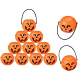 Crazy Night Halloween Pumpkin Buchet 12 Pcs Mini Candy Holder,Trick or Treat Games
