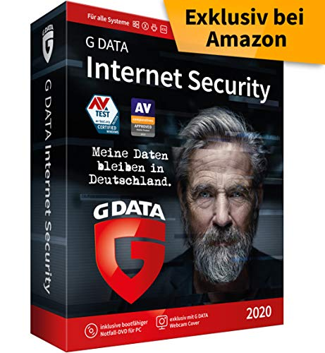 G DATA Internet Security 2020 | 3 Geräte - 1 Jahr, DVD-ROM inkl. Webcam-Cover | Windows, Mac, Android, iOS Antivirus | Made in Germany