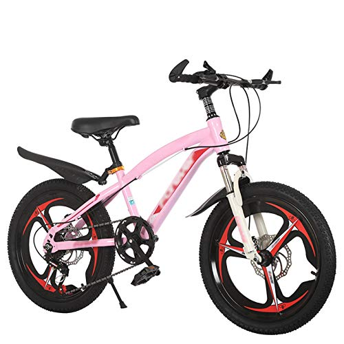 OFFA 18 20 22 Inch Kids Mountain Bike, Boys Girls Children 8-10-15 Year Old Cruiser Tricycles 6 Variable Speed Shock-absorbing Bikes, Double Disc Brake, Outdoors Sport Road Bikes
