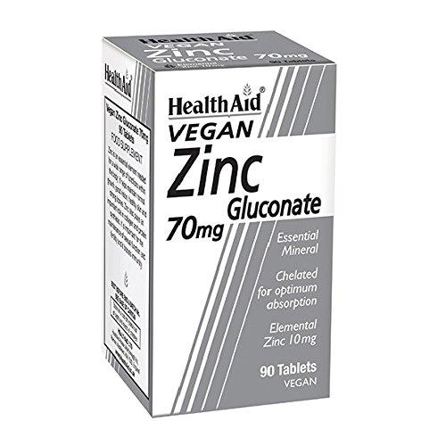 HealthAid Zinc Gluconate 70mg - 90 Vegan Tablets
