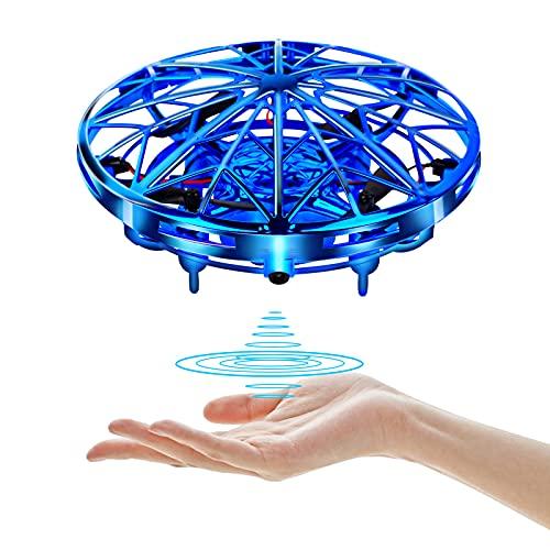 UTTORA Mini Drone para Niños Flying Toy Recargable UFO Helicóptero 360°Rotación Libre A Mano Drones Regalos para Niños Niñas Juguetes Voladores