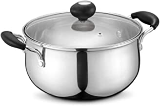 LJBH Stockpot 304 Stainless Steel Compound Bottom Milk Pot, Induction Cooker Gas Universal 20cm high quality (Color : Silv...