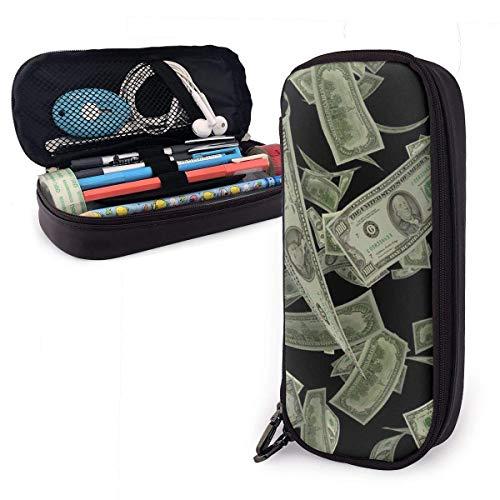Stifteetui mit Dollarzeichen und Geldscheinen, tragbar, großes Fassungsvermögen für Stifte, Bleistifte, Marker, Schulbedarf, Studenten, Büroangestellte